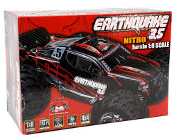 racing monster truck earthquake 3 5 1 8 rtr 4wd nitro monster truck red by redcat