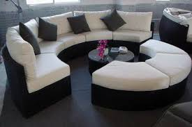 round sectional sofa glamorize your living spaces with adding round sectional sofas