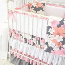 Pink And Gray Nursery Bedding Sets by Addison U0027s Pink U0026 Gray Floral Crib Bedding Caden Lane