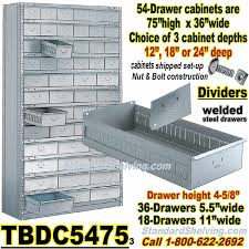 Parts Cabinets 54 Drawer Steel Parts Cabinets Tbdc5475