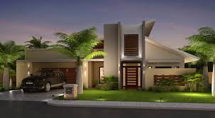 exciting modern front elevation of house 83 with additional home