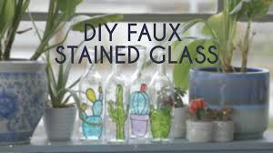 faux stained glass window video hgtv