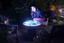 artistic coffee trippy transforming coffee table illuminates microscopic art