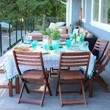 Outdoor Dining Room Beachy Boho Outdoor Dining Room Deck Reveal Part Two The