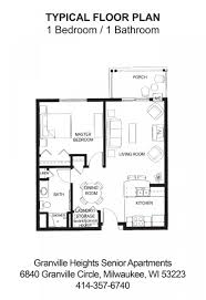 granville heights senior apartments milwaukee wi floor plans