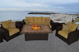 Bedroom Sets Visalia Ca Outdoor Innovation South Beach 8 Piece Fire Pit Seating Group With
