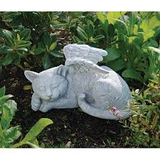 cat memorial design toscano cat memorial angel pet statue brand ebay