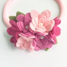 flower headband felt flower headband pink cluster felt flower crown bugabaloo