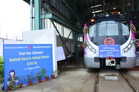 Blue Line Delhi Metro Map by Trial Runs Extended On The Magenta Line Between Okhla Vihar And