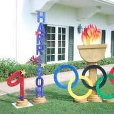 Olympic Themed Decorations Keeping It Simple Olympics Party Ideas Party Favor Games