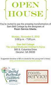 House Invitation Card You U0027re Invited Room Service Atlanta Open House Blulabel