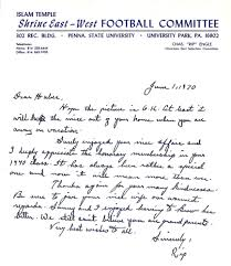 football writing paper football rip engle images psa autographfacts 1970 rip engle signed letter