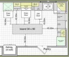 typical kitchen island dimensions standard kitchen island size