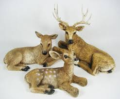 home interior figurines homco 1984 home interiors set of 3 deer family buck doe fawn