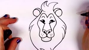 drawing a cartoon lion clip art library