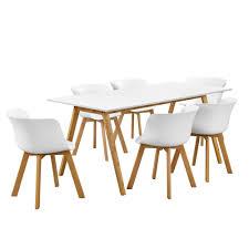 Esszimmertisch Deutsch En Casa Esstisch Mit 6 Stühlen Weiß 180x80 Küchentisch