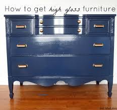Wood Furniture Paint Little Black Door High Gloss Dresser Tutorial