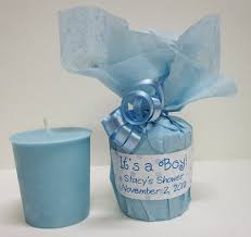 boy baby shower favors baby shower favors blue baby powder scented soy votives it s a boy