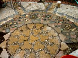 Sand For Patio Pavers by Wow Thats A Busy Garden Creating A Paver And Pebble Mosaic Patio