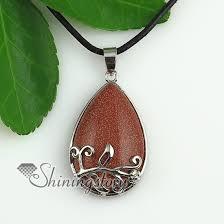 stone pendant necklace wholesale images Teardrop flower jade rose quartz natural semi precious stone jpg