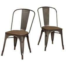 tabouret vintage wood seat bistro chair brown metal bistro