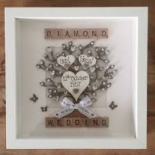 60 year wedding anniversary box frame scrabble letters special gift diamond 60 years wedding