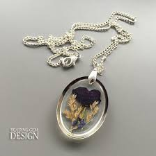 resin necklace designs images How to make pressed flower resin jewelry part 1 the beading jpg