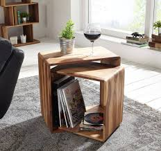 wood cube end table mamta decoration rosewood sheesham wood nested cube bed side end