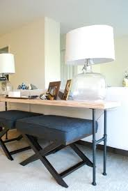 sofa table with stools underneath console table stools underneath table designs