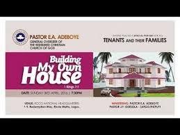 pastor e a adeboye sermon building my own house april 2016 rccg