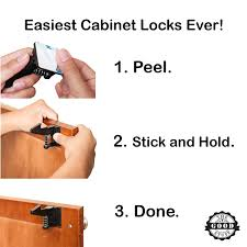 amazon com child safety cabinet latch locks quick and easy to