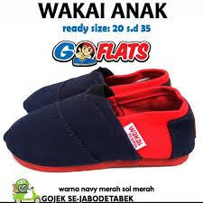 Harga Sepatu Wakai Taman Anggrek penawaran wakai anak navy merah sol merah grosir wakai sepatu