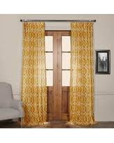 sweet deals on sheer yellow curtains