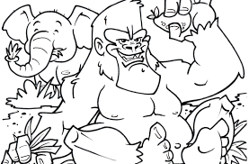 coloring page of gorilla coloring pages animals sing johnny sheet gorilla within page for