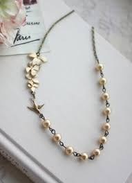 Wedding Gift Gold Gold Orchid And Swallow Bird Necklace Orchid Yellow Gold Pearls