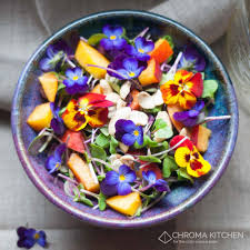 Salad With Edible Flowers - viola spring salad u2014 chroma kitchen for the color curious eater