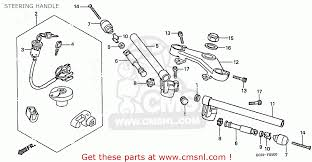 honda cb50v dream japan 11gcrvj3 steering handle schematic