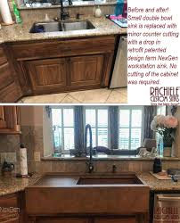 sink kitchen cabinet base repair retrofit farmhouse sink custom designed and crafted to fit