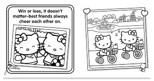 friends kitty u0026 personalized coloring book put