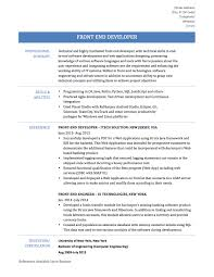 Resume Sample Java Developer by Resume For Front End Developer Free Resume Example And Writing