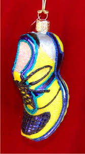 running shoe glass ornament boy ornaments