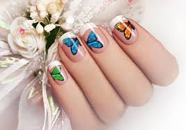 14 colorful butterfly nail ideas