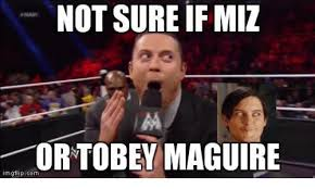 Tobey Maguire Meme - not sure if miz or tobey maguire mgflipcom tobey maguire meme on