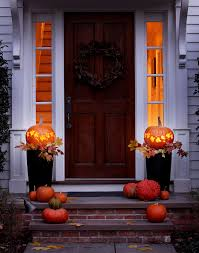 Thanksgiving Outdoor Decorations Lighted 20 Fall Porch Decor Ideas Best Autumn Porch Decorations