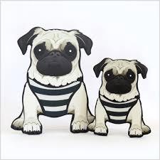 cut out u2013 doug the pug sketch your pet