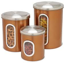 kitchen canisters and jars metal storage canisters copper 3 kitchen canisters and