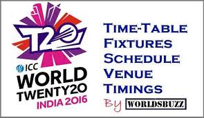 Cricket World Cup Table Icc T20 World Cup 2016 Schedule Time Table Fixtures Venue