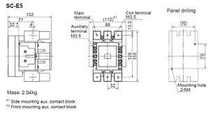 standard type magnetic contactor sc e series fuji electric fa