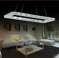 Led Chandelier Online Shop Luxurious Silver Square Crystal Led Chandelier Crystal