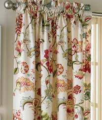 Jacobean Floral Curtains Jacobean Floral Lined Rod Pocket Curtains Country Curtains